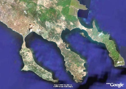 CHALKIDIKI GOOGLE EARTH